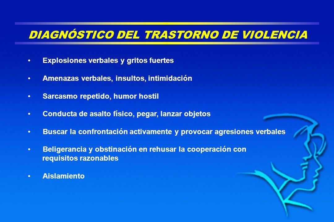 DIAGNÓSTICO DEL TRASTORNO DE VIOLENCIA