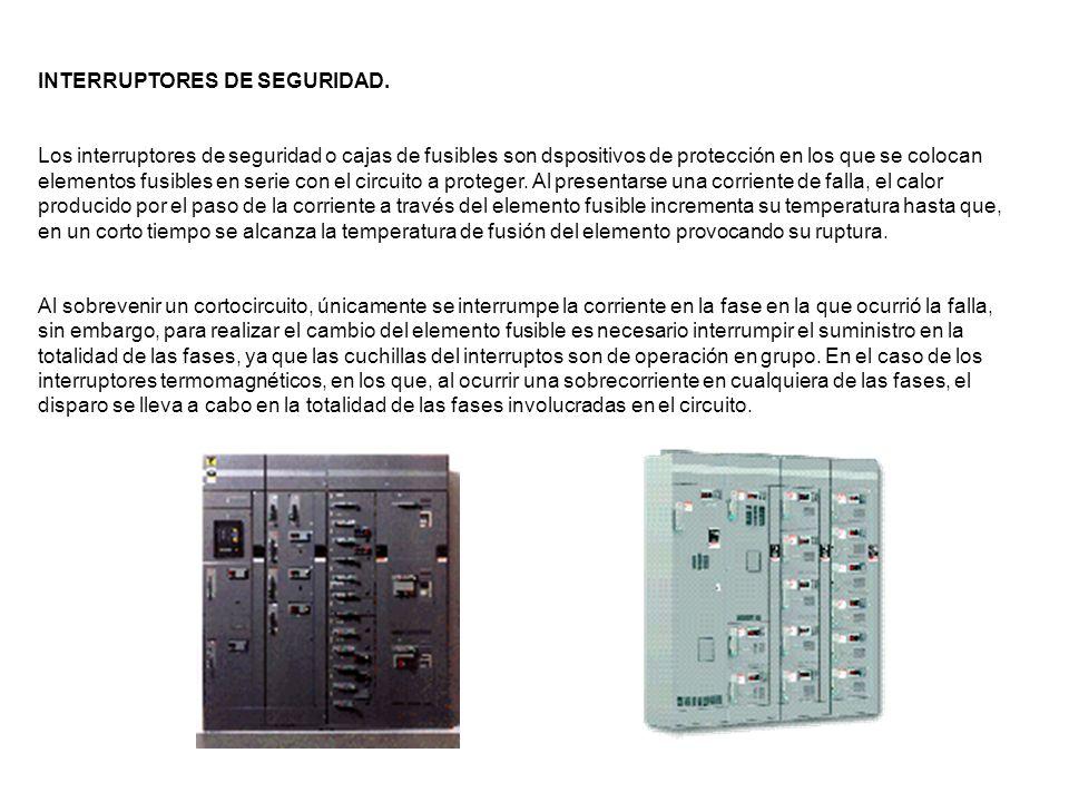 INTERRUPTORES DE SEGURIDAD.