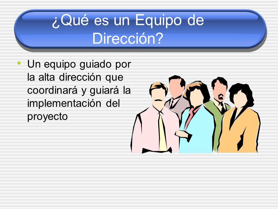¿Qué es un Equipo de Dirección