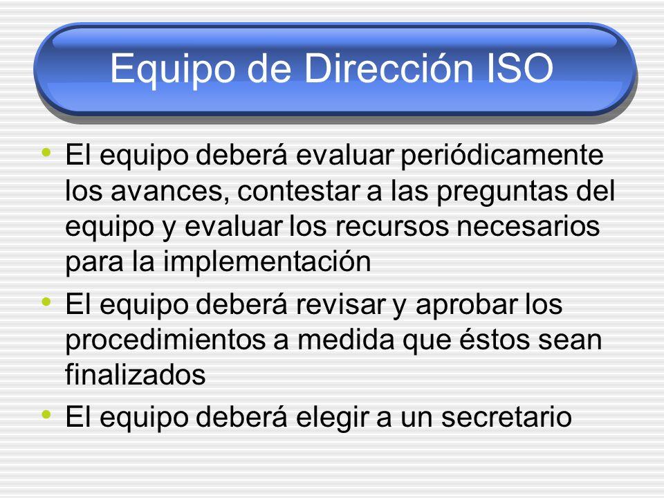 Equipo de Dirección ISO