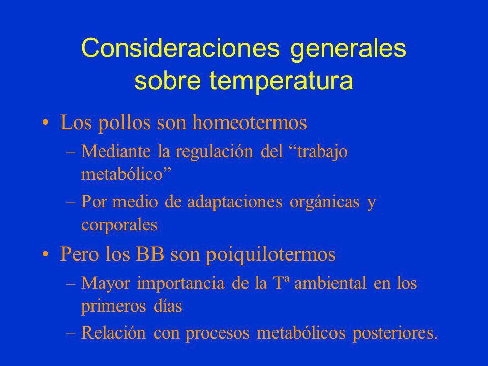 Consideraciones generales sobre temperatura