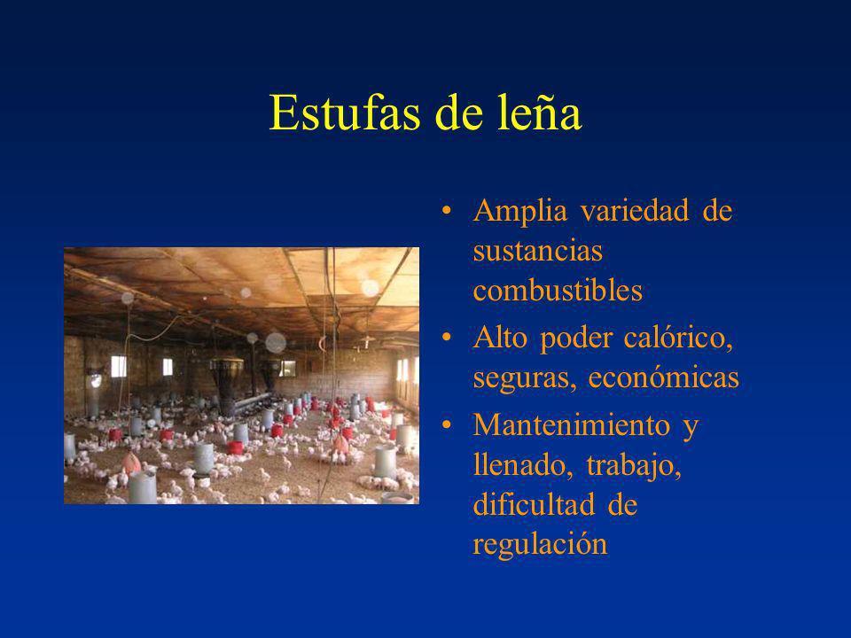 Estufas de leña Amplia variedad de sustancias combustibles