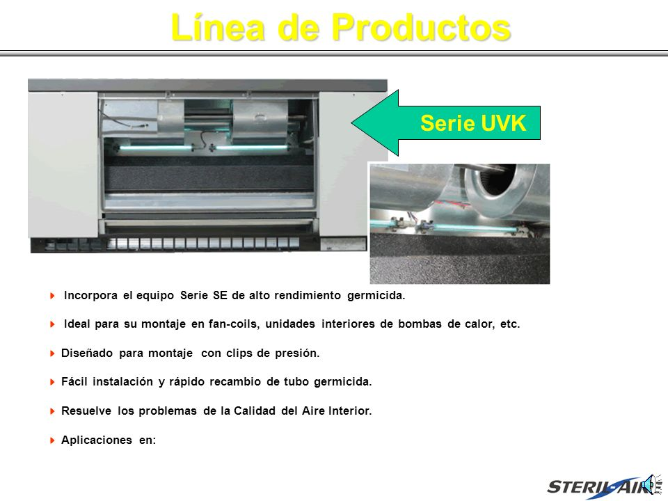 Línea de Productos Serie UVK
