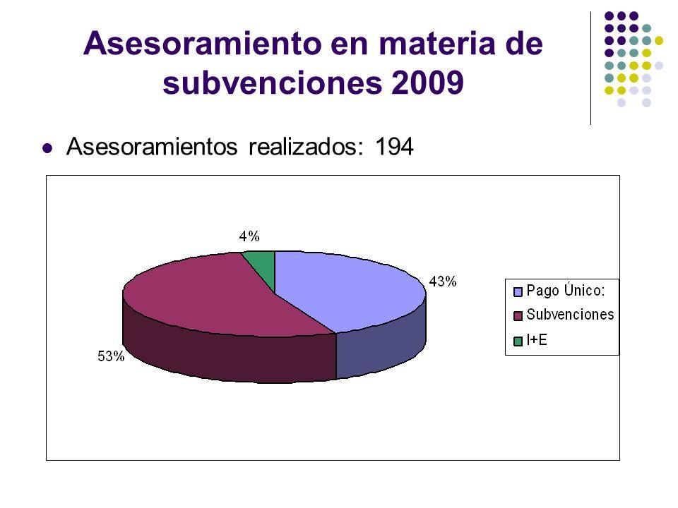 Asesoramiento en materia de subvenciones 2009