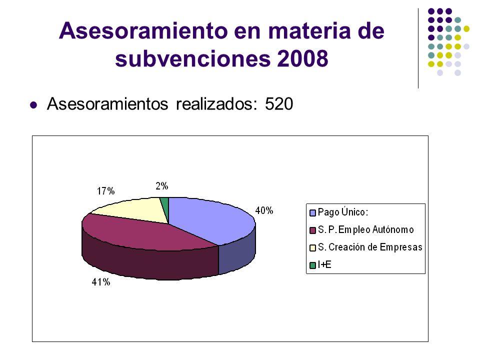 Asesoramiento en materia de subvenciones 2008