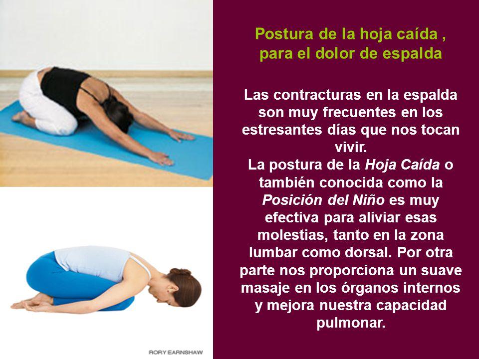 Postura de la hoja caída , para el dolor de espalda