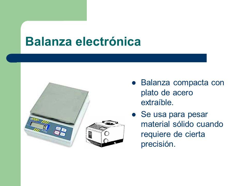 Balanza electrónica Balanza compacta con plato de acero extraíble.