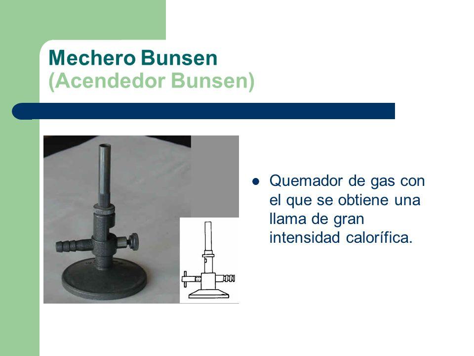Mechero Bunsen (Acendedor Bunsen)