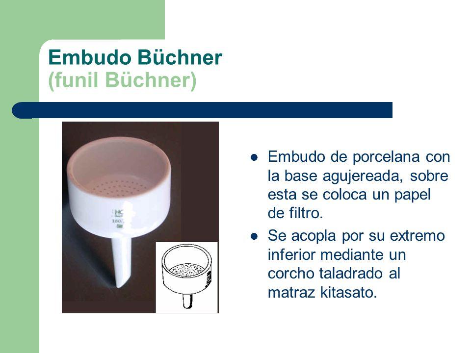 Embudo Büchner (funil Büchner)