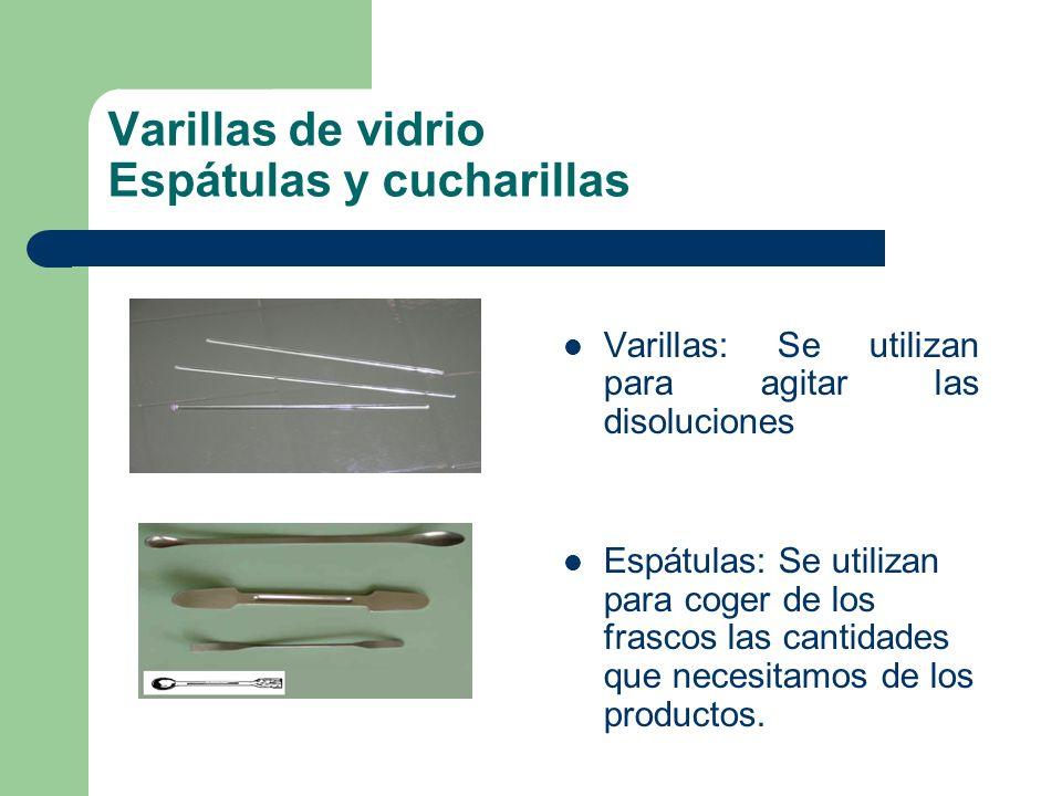 Varillas de vidrio Espátulas y cucharillas