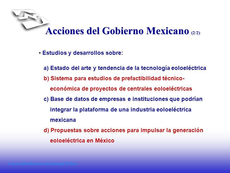 Acciones del Gobierno Mexicano (2/2)