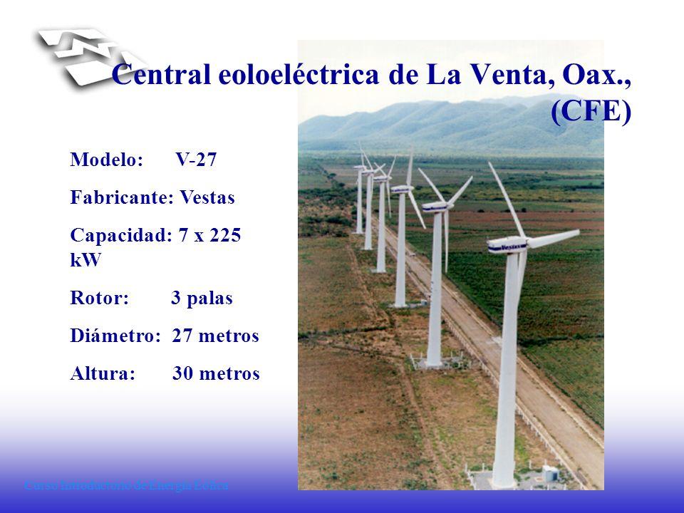 Central eoloeléctrica de La Venta, Oax., (CFE)
