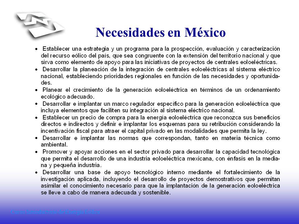 Necesidades en México