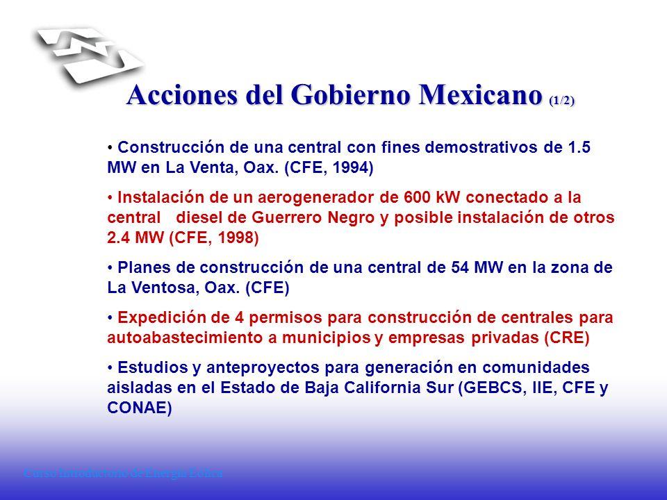 Acciones del Gobierno Mexicano (1/2)