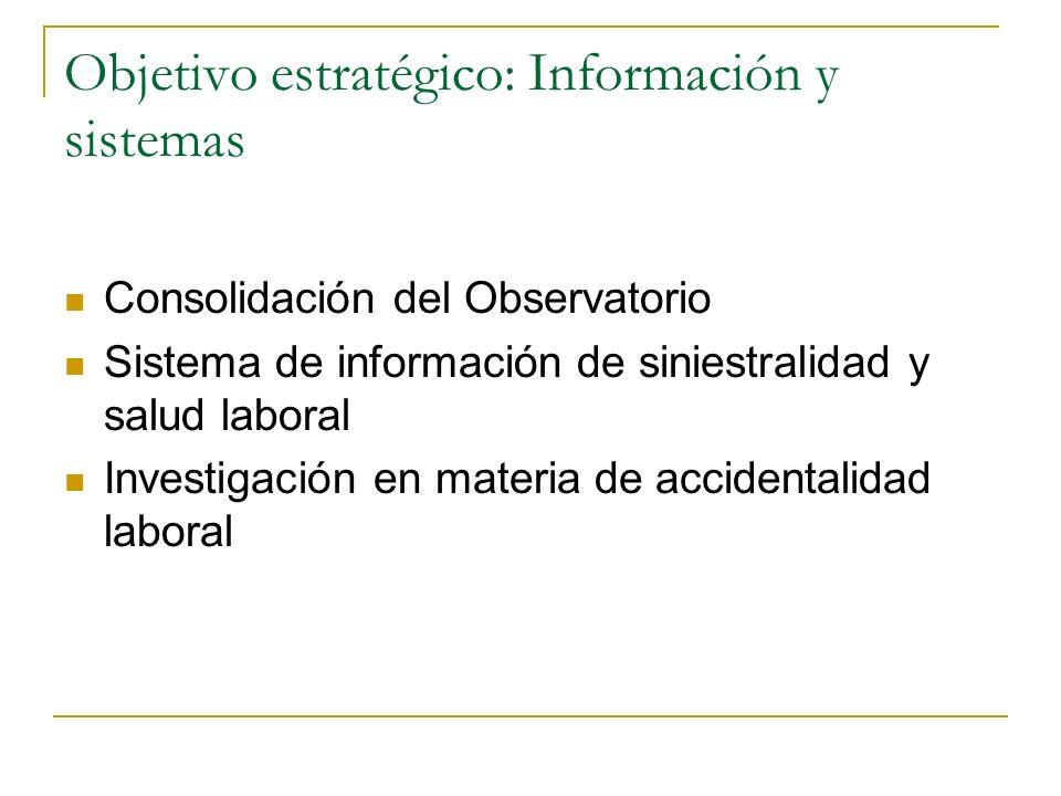 Objetivo estratégico: Información y sistemas