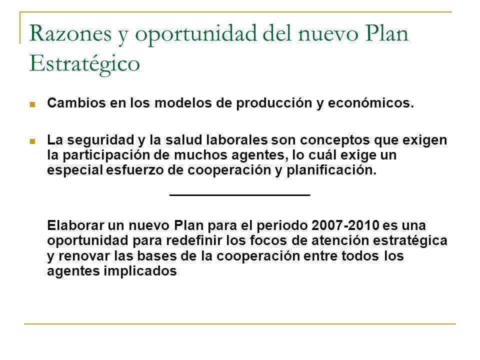 Razones y oportunidad del nuevo Plan Estratégico