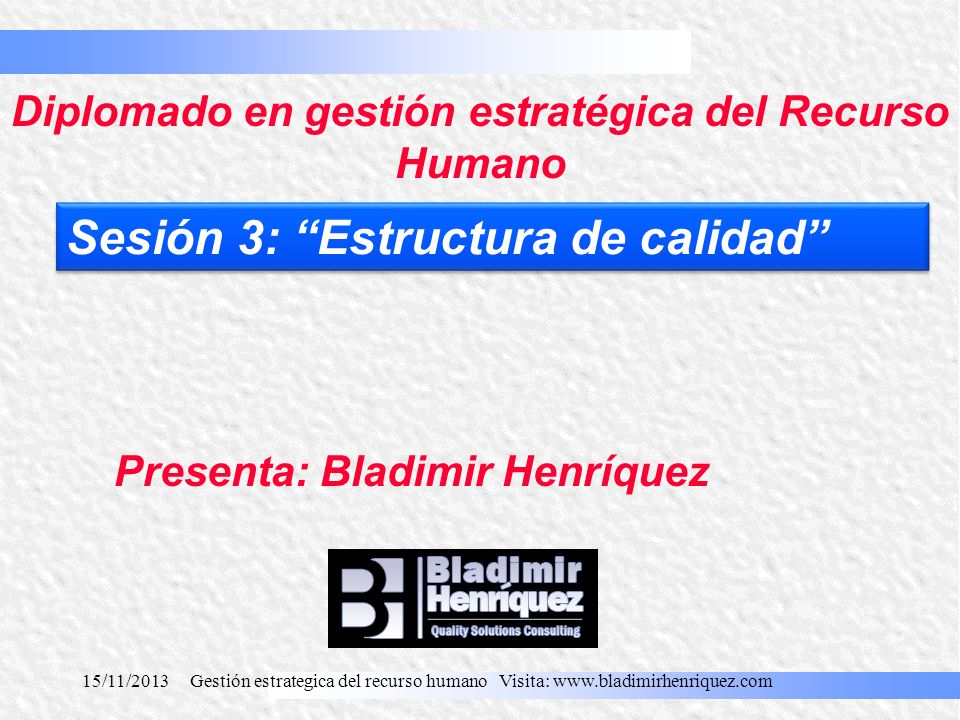 Diplomado en gestión estratégica del Recurso Humano