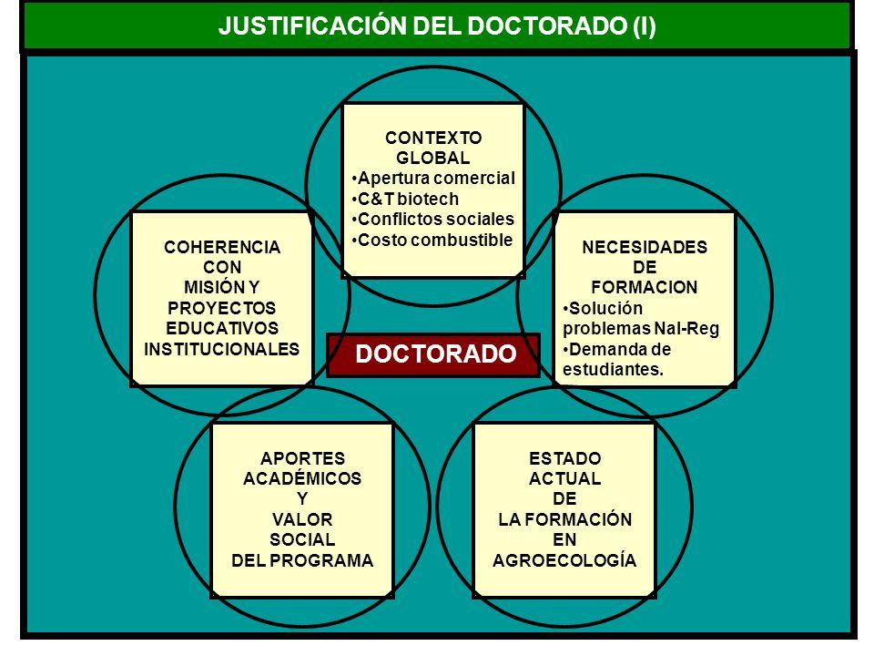 JUSTIFICACIÓN DEL DOCTORADO (I)
