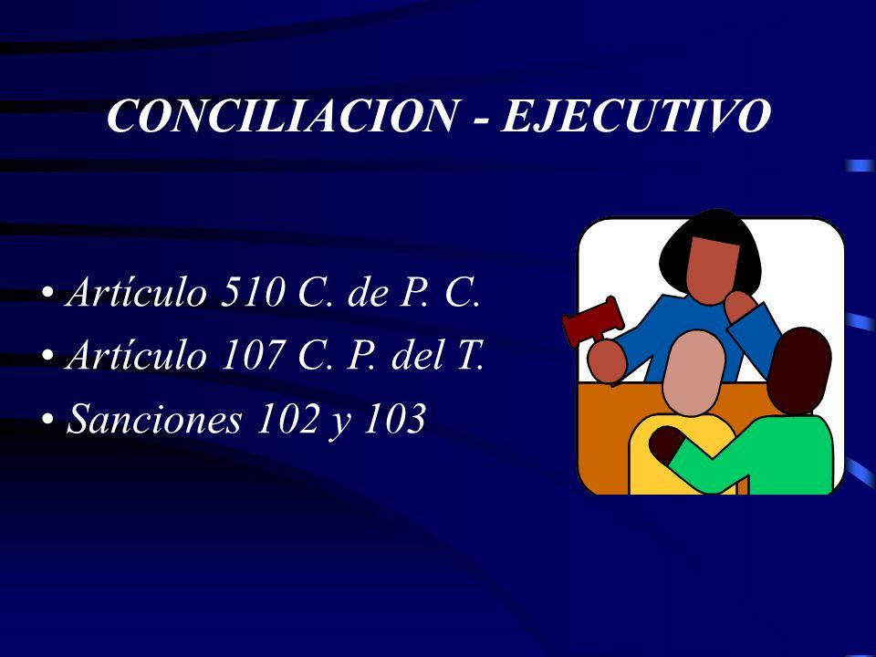 CONCILIACION - EJECUTIVO