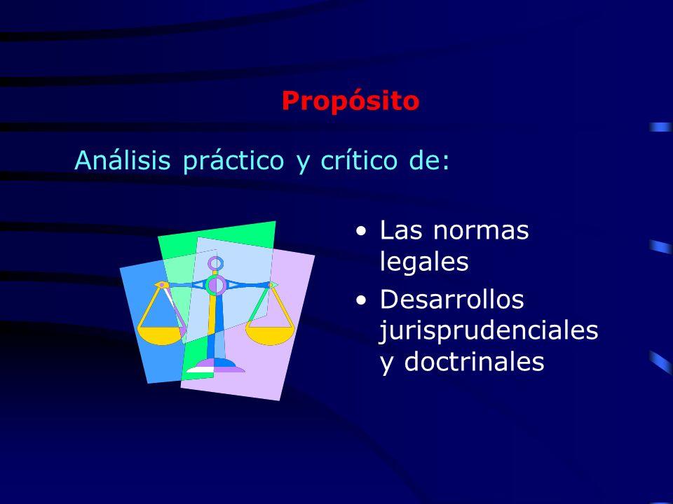 Propósito Análisis práctico y crítico de: Las normas legales.