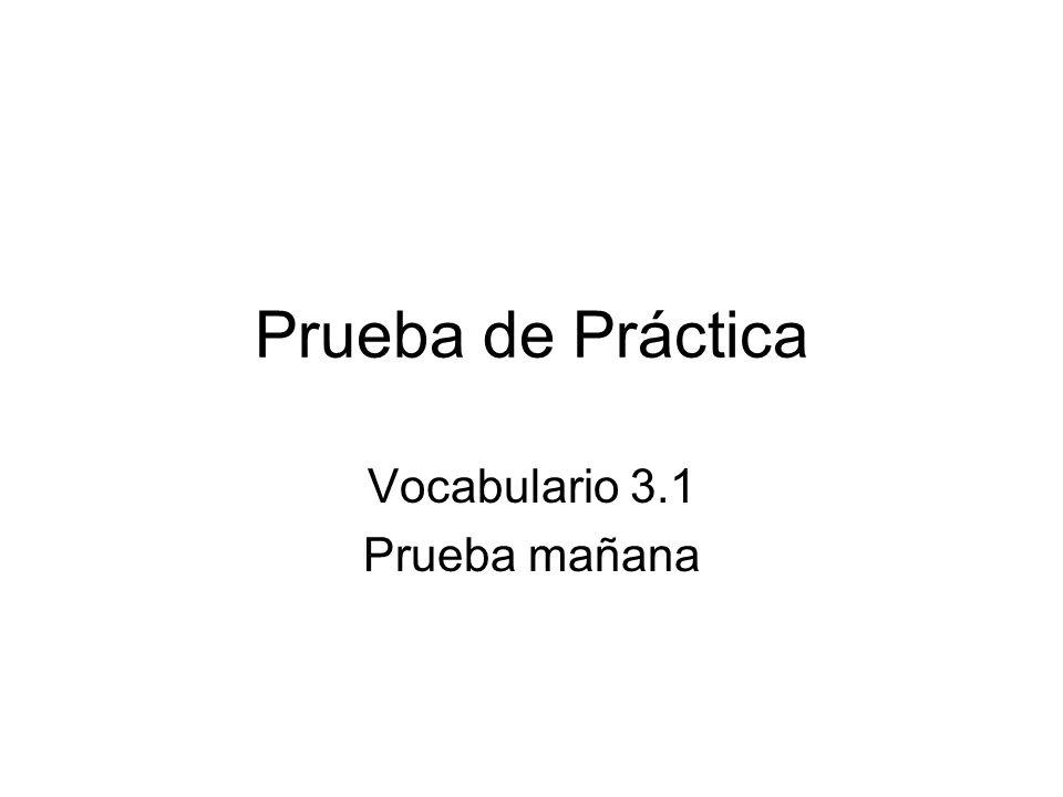 Vocabulario 3.1 Prueba mañana