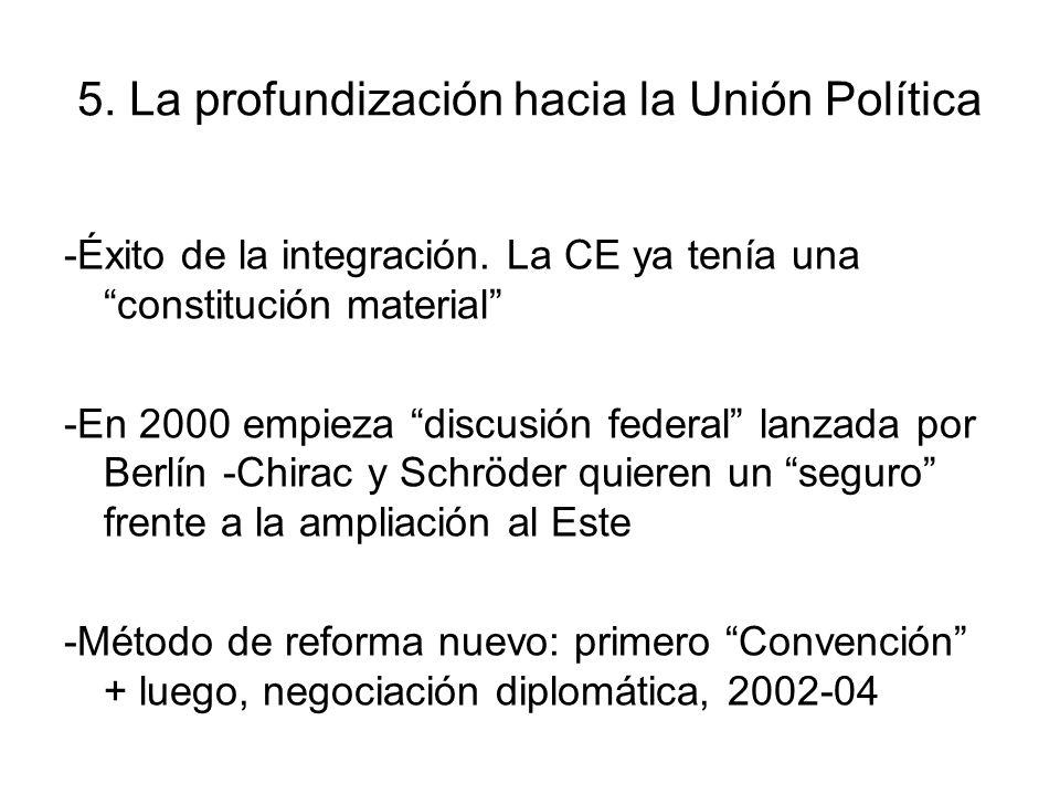 5. La profundización hacia la Unión Política