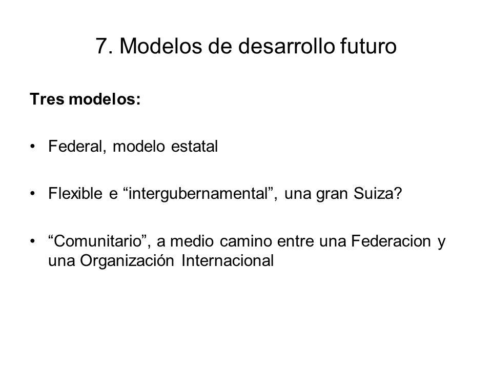 7. Modelos de desarrollo futuro