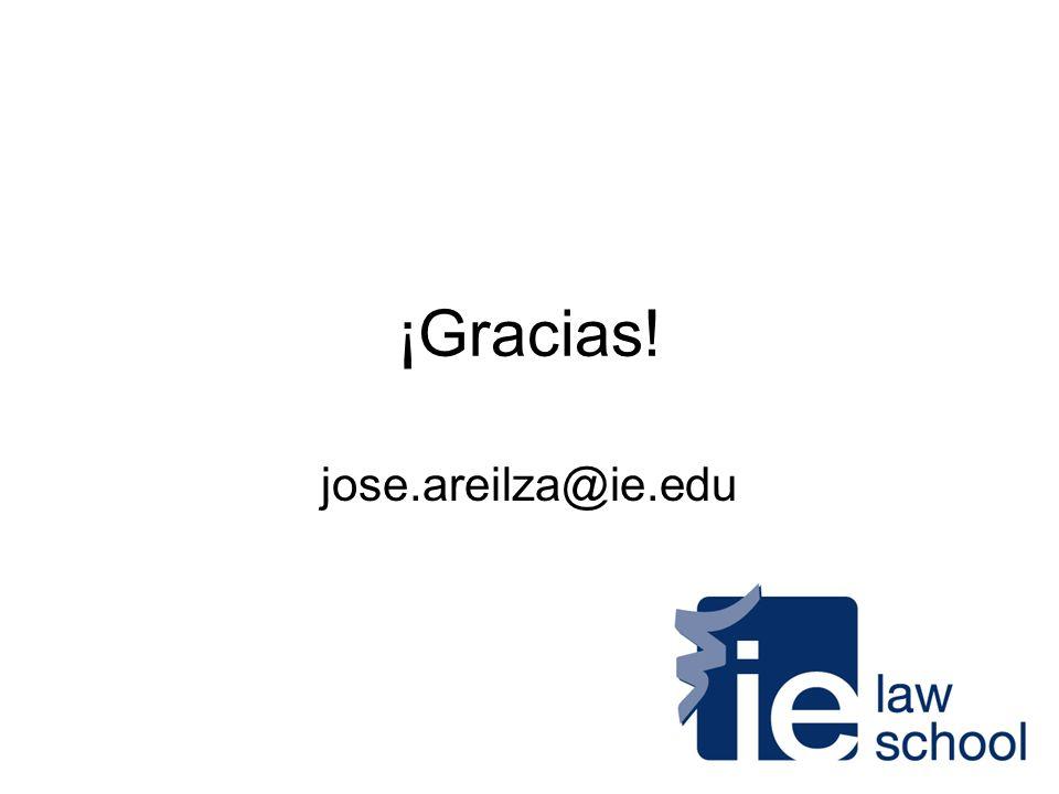 ¡Gracias! jose.areilza@ie.edu