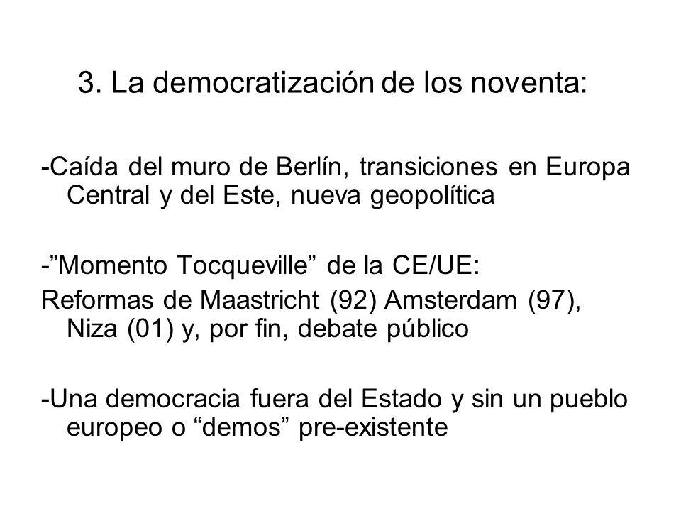 3. La democratización de los noventa: