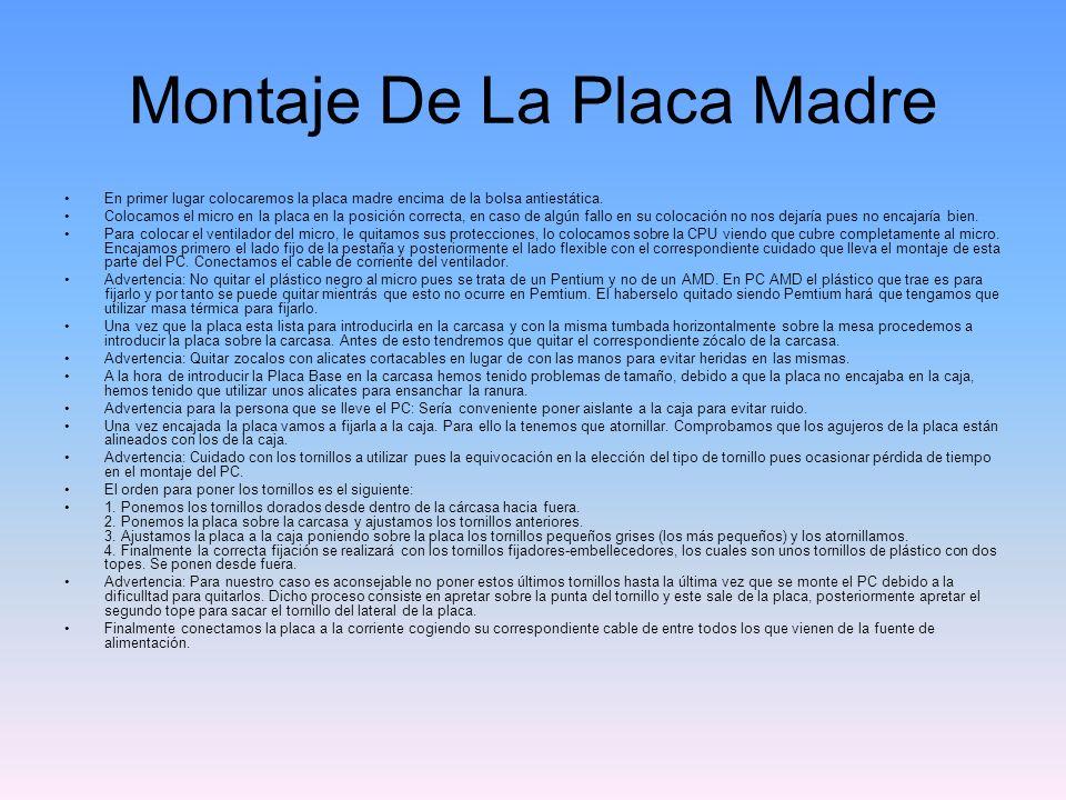 Montaje De La Placa Madre