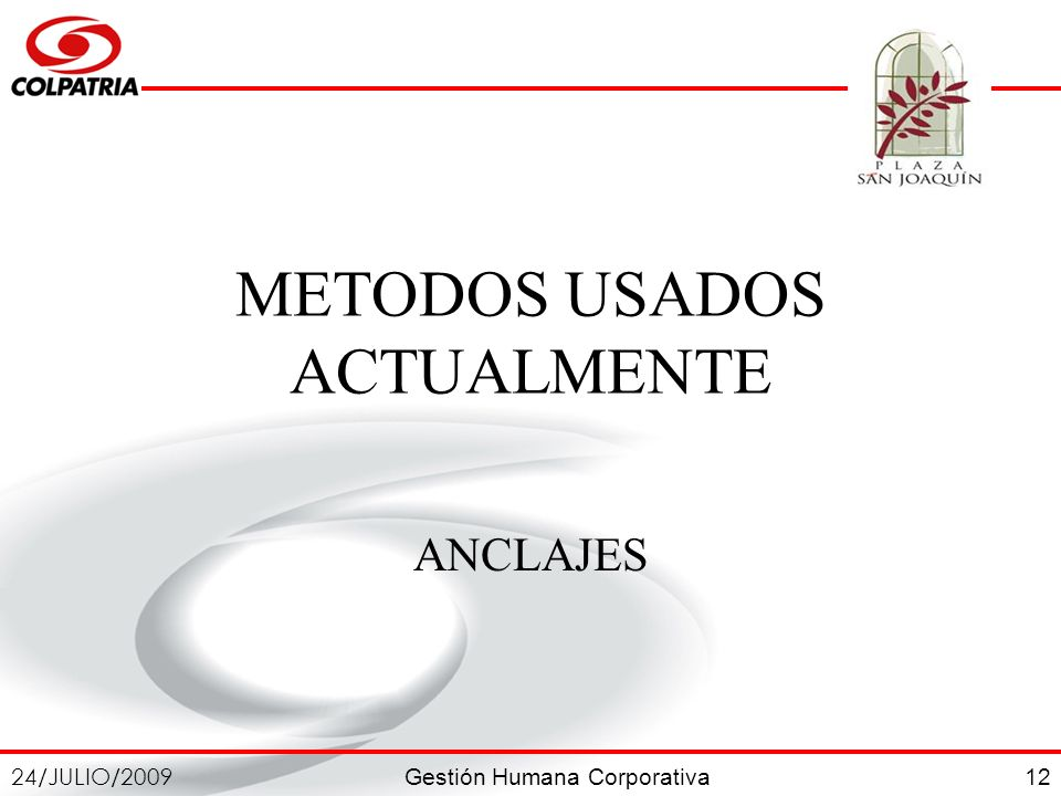 METODOS USADOS ACTUALMENTE