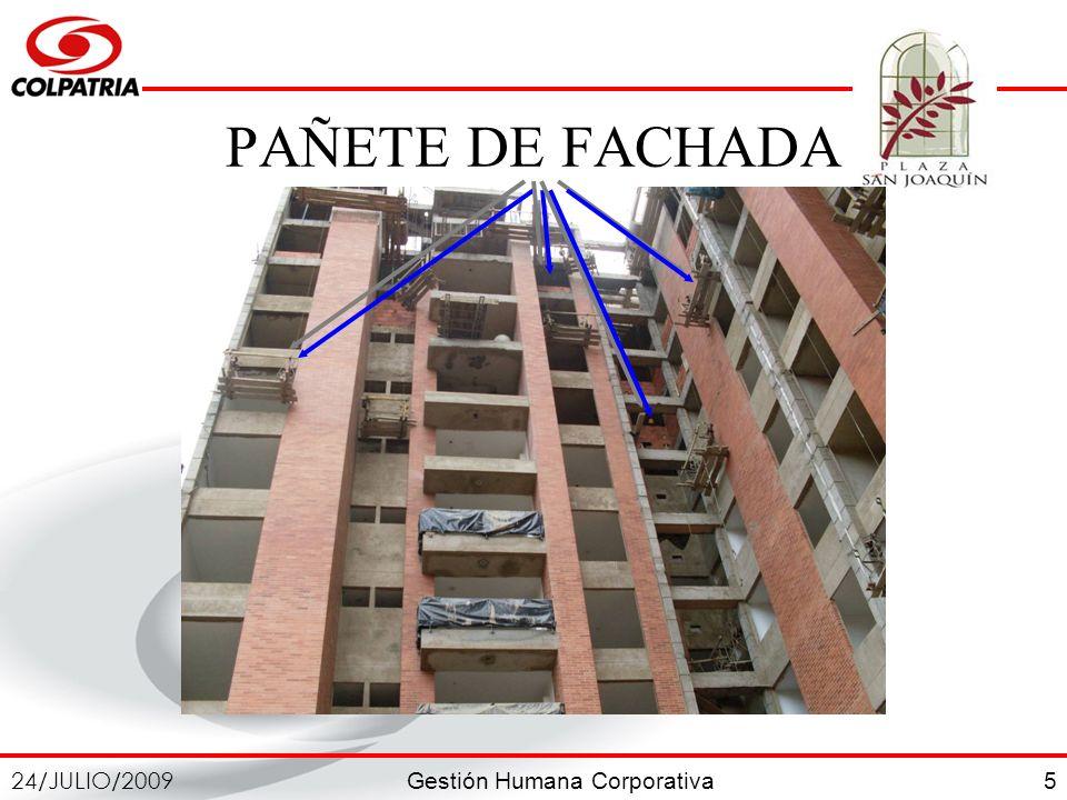 PAÑETE DE FACHADA