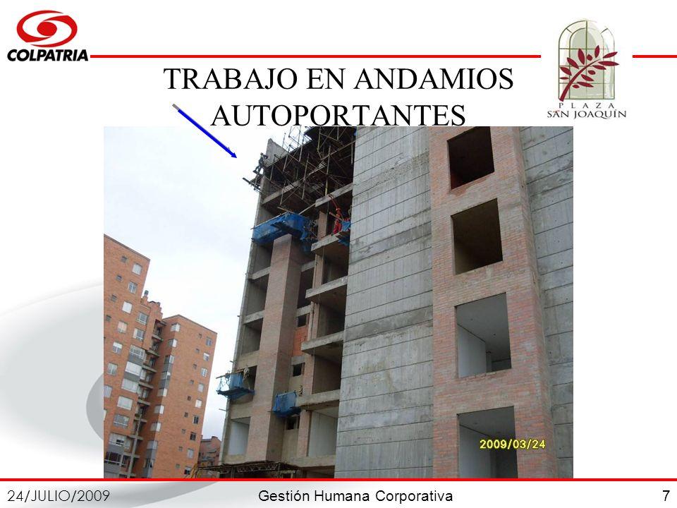 TRABAJO EN ANDAMIOS AUTOPORTANTES