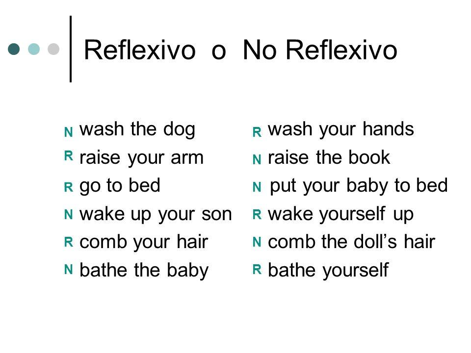 Reflexivo o No Reflexivo