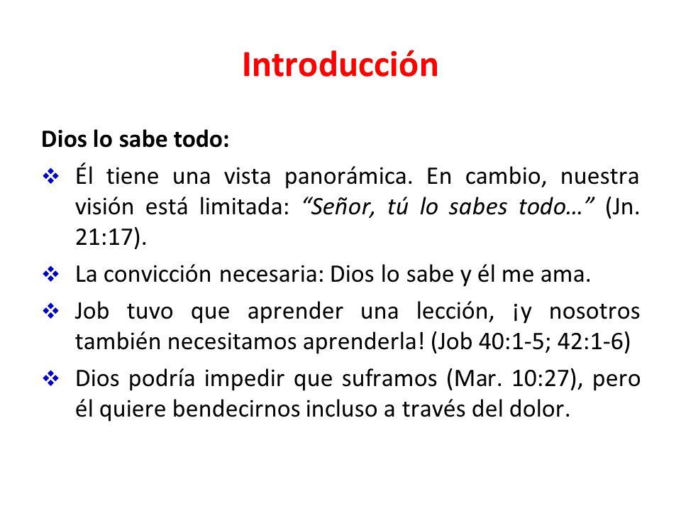 Introducción Dios lo sabe todo: