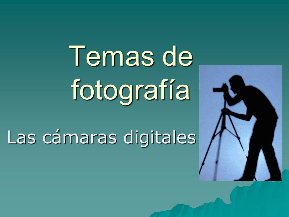Temas de fotografía Las cámaras digitales