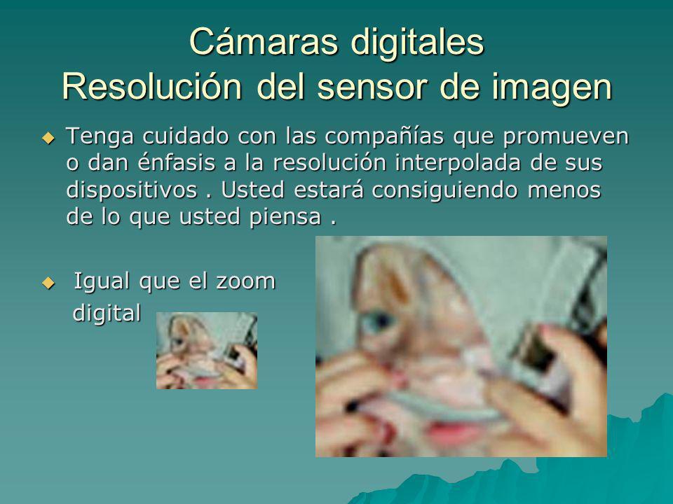 Cámaras digitales Resolución del sensor de imagen