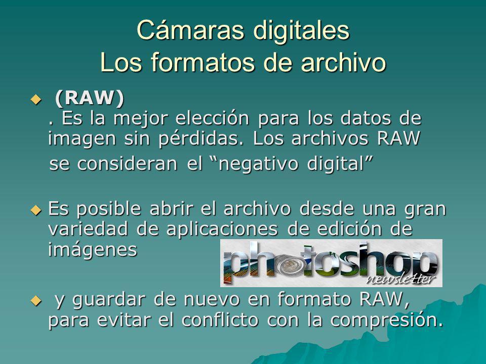 Cámaras digitales Los formatos de archivo