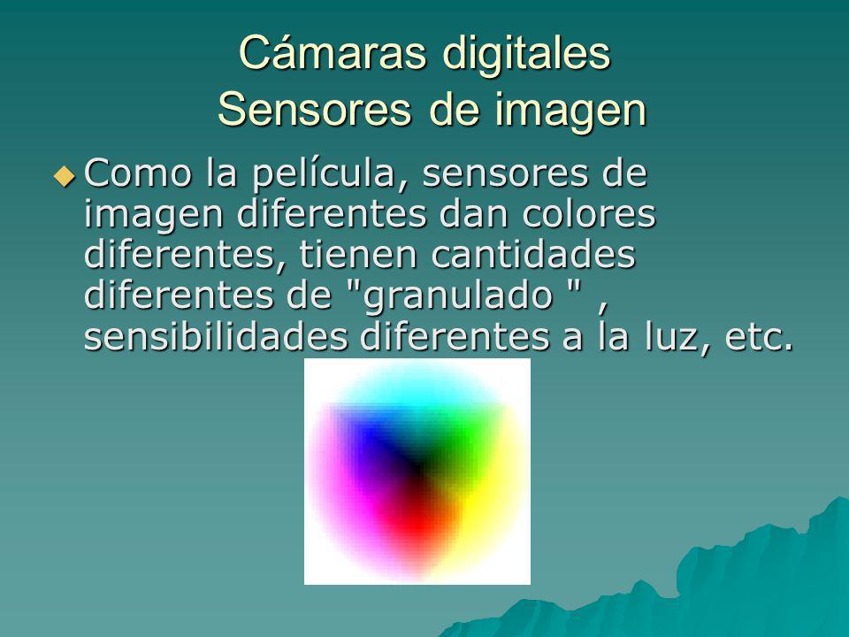 Cámaras digitales Sensores de imagen
