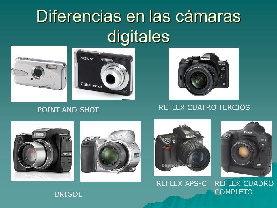 Diferencias en las cámaras digitales