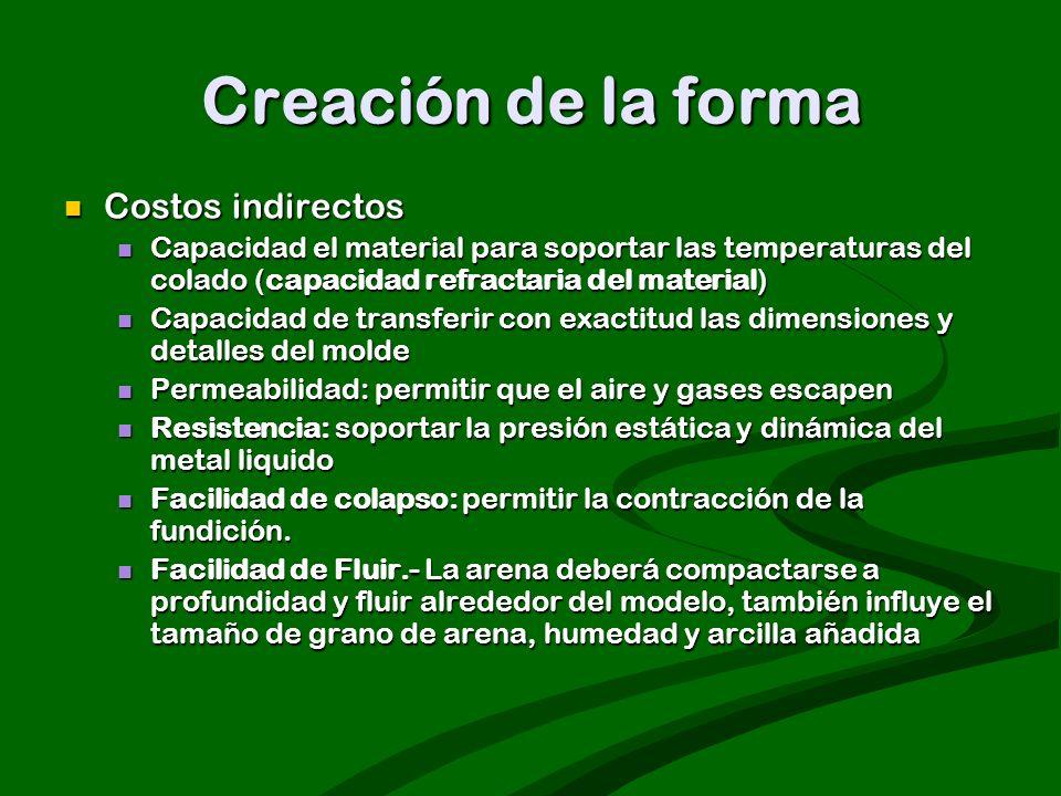 Creación de la forma Costos indirectos