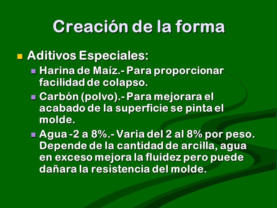 Creación de la forma Aditivos Especiales: