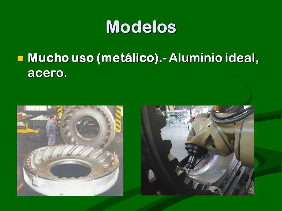 Modelos Mucho uso (metálico).- Aluminio ideal, acero.