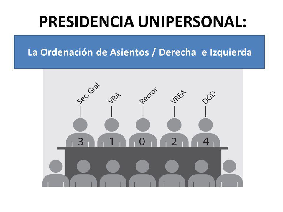 PRESIDENCIA UNIPERSONAL:
