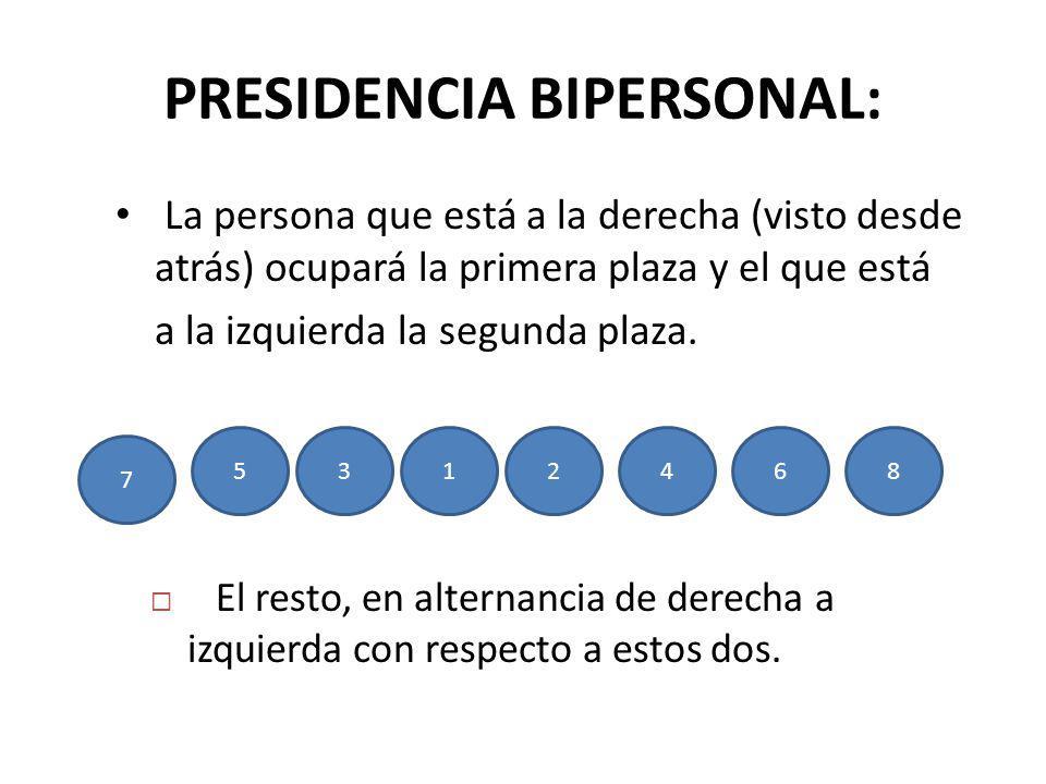 PRESIDENCIA BIPERSONAL: