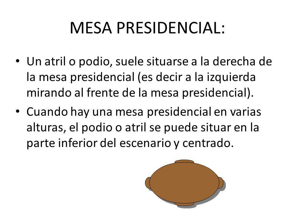 MESA PRESIDENCIAL: