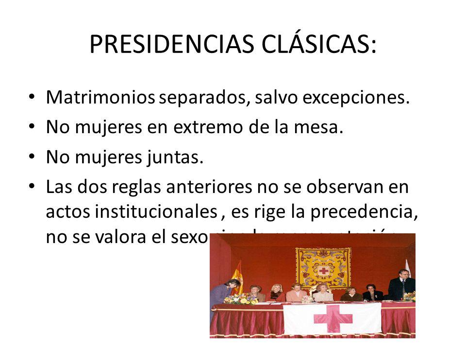 PRESIDENCIAS CLÁSICAS: