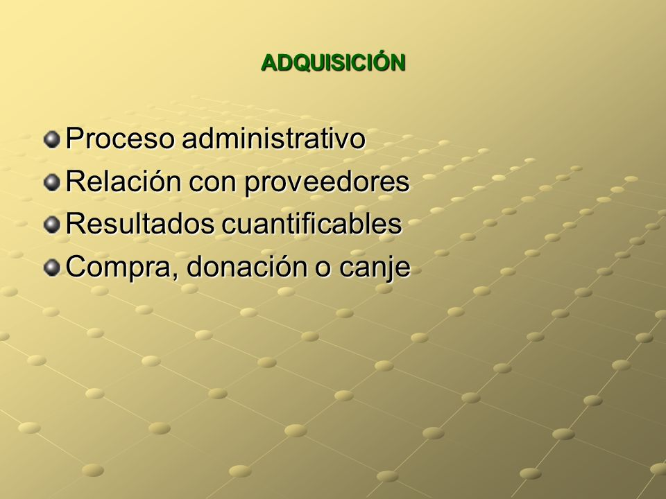 Proceso administrativo Relación con proveedores