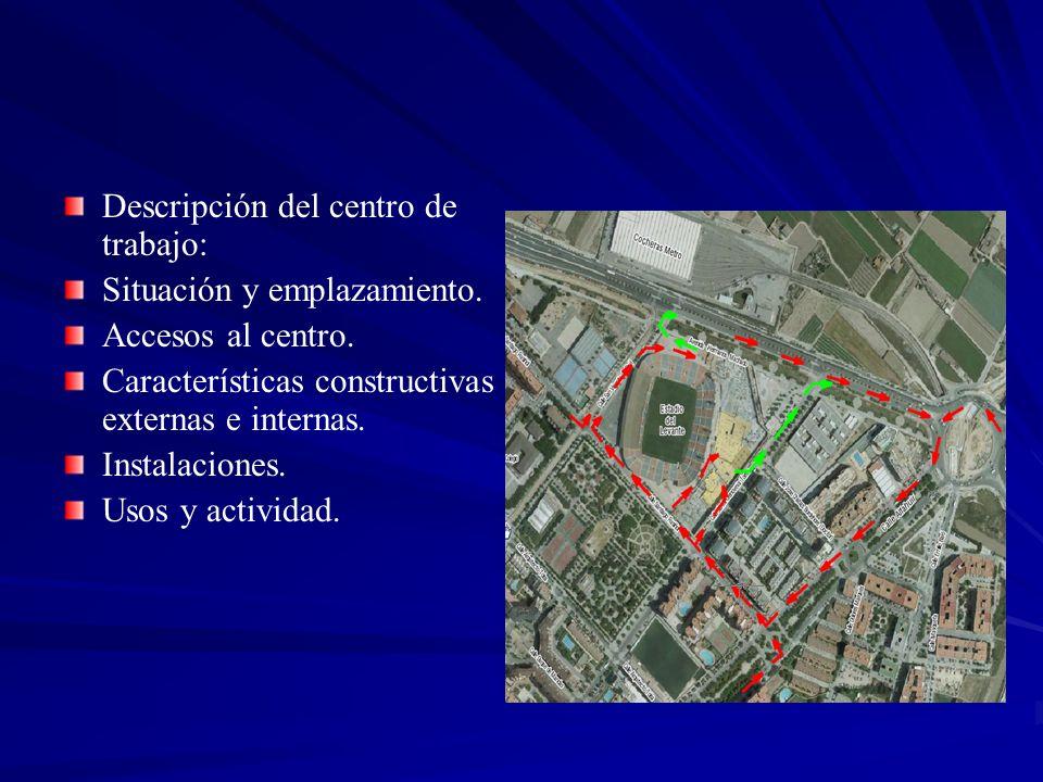 Descripción del centro de trabajo: