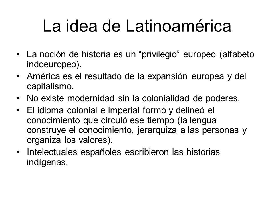 La idea de Latinoamérica